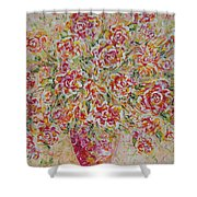 First Love Flowers Shower Curtain