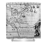 First Map Of Louisiana Shower Curtain