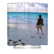 First Mornin' Walk Shower Curtain
