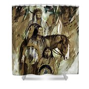 First Nation 67r Shower Curtain
