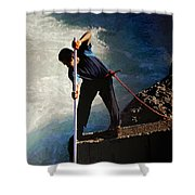 First Nation Fisherman Shower Curtain
