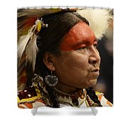 Pow Wow First Nations Man Portrait 1 Shower Curtain