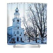 First Parish Church Manchester Ma North Winter Snow Shower Curtain
