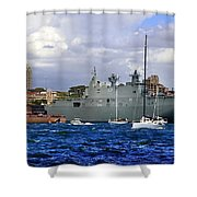 First Peak At Australia's Newest Warship Shower Curtain