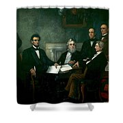First Reading Of The Emancipation Proclamation Of President Lincoln Shower Curtain
