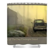First Run Of The Day, Monhegan Island  Shower Curtain