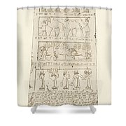 First Side Of Obelisk, Illustration From Monuments Of Nineveh Shower Curtain