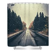 First Snow Fall Shower Curtain