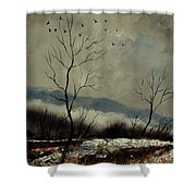 First Snow In Harroy Shower Curtain