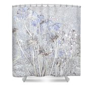 First Snow In The Field Shower Curtain
