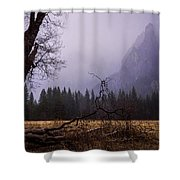 First Snow In Yosemite Valley Shower Curtain by Priya Ghose