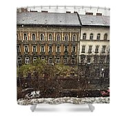 First Snow Of The Year Shower Curtain