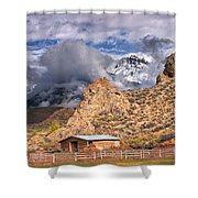 First Snow On The Hills Shower Curtain