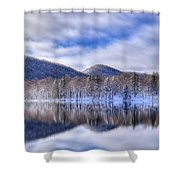 First Snow On West Lake Shower Curtain