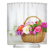 First Spring Garden Roses Shower Curtain