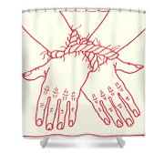 First Station- Jesus Is Condemned To Death  Shower Curtain