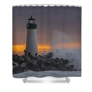First Sunday Morning Shower Curtain