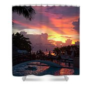 First Sunset In Negril Shower Curtain