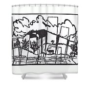 First Time In A City 1 Shower Curtain
