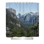 First View Of Yosemite Valley Shower Curtain