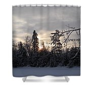 First Winter Sunrise Of 2011 Shower Curtain