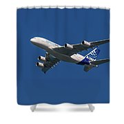 Firts Airbus A380 Shower Curtain