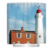 Fisgard Lighthouse Shower Curtain