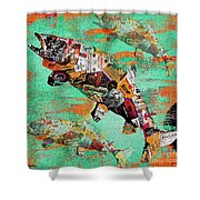 Fish And Bourbon Shower Curtain