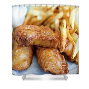Fish And Chips On A Plate Shower Curtain