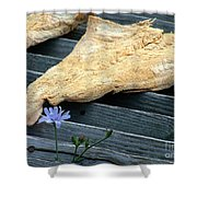 Fish And Flowers Shower Curtain