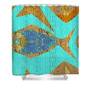 Fish And Loaves Shower Curtain
