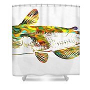 Fish Art Catfish Shower Curtain