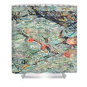 Fish Art Trout Art Brook Trout Brookie Artwork Nature Underwater Wildlife Creek Art River Art Lake Shower Curtain