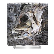 Fish Bones Shower Curtain