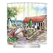 Fish Box In Robin Hoods Bay  Shower Curtain