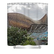 Fish By Frank Owen Gehry - Olympic Village - Barcelona Spain Shower Curtain
