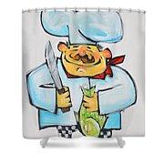Fish Chef Shower Curtain