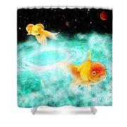 Zen Fish Dream Shower Curtain
