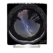 Fish-eye Lens Panorama Of Milky Way Shower Curtain