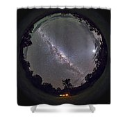 Fish-eye Panorama Of The Southern Night Shower Curtain