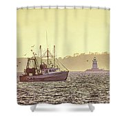 Fish For Dinner Shower Curtain