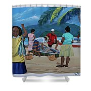 Fish For Supper Shower Curtain