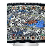 Fish Group Shower Curtain