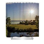 Fish Hook Lake Morning Shower Curtain