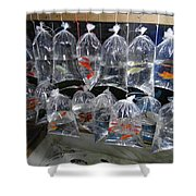 Fish In A Bag Shower Curtain