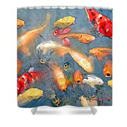 Fish In A Lake Shower Curtain