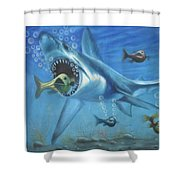 Fish In Action Shower Curtain