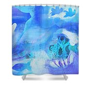 Fish In Blue Shower Curtain