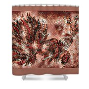 Fish In Cinnamon Mosaic 1 Shower Curtain