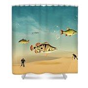 Fish Life  Shower Curtain
